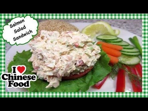 Chinese food |  How to Make Salmon Salad Sandwich ~ Leftover Salmon Recipe