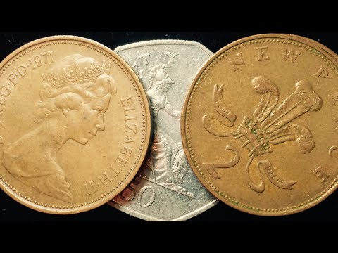 1971 Two New Pence Coin From United Kingdom
