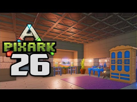 BUILDING A MAGIC ROOM - Let's Play PixARK Gameplay Part 26 (PixARK Pooping Evolved Base Building)