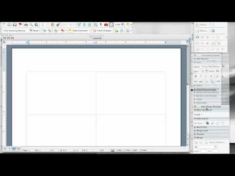 Using Mail Merge to make and print ID badges