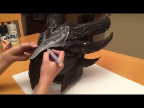 Eva Foam Weathering Techniques (Daedric Helmet)