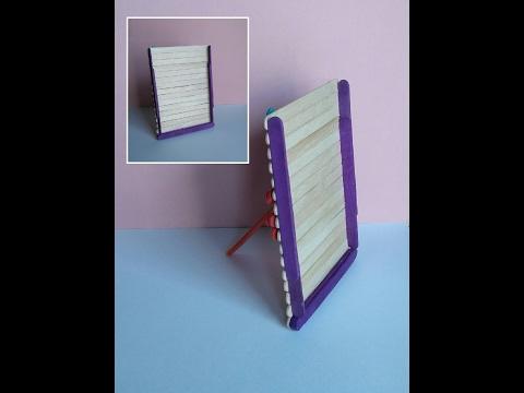 DIY - Popsicle stick photo frame ♡ Κατασκευή:Ξύλινη κορνίζα με ξυλάκια