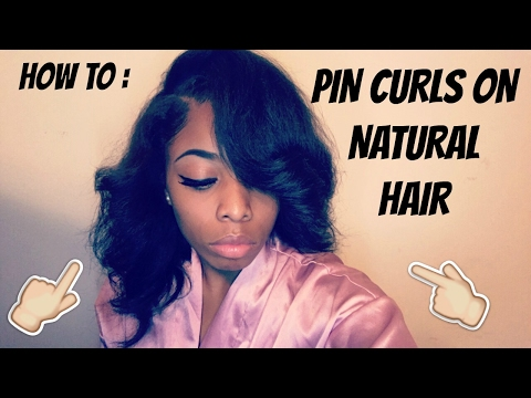 BEAUTIFUL PIN CURLS ON STRAIGHT NATURAL HAIR