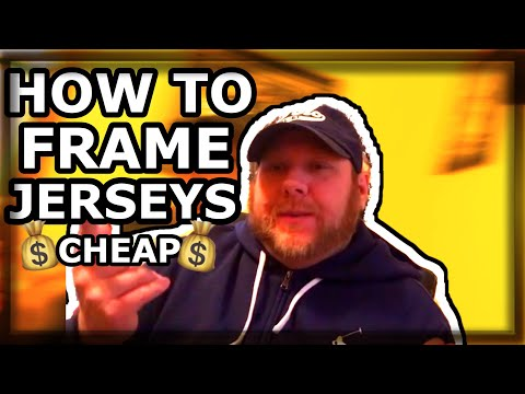 HOW TO FRAME AND MAT YOUR JERSEY FOR UNDER $100 CHEAP
