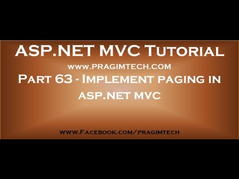 Part 63   Implement paging in asp net mvc