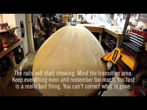 Grain Surfboard Build - Part 6, Shaping and Sanding