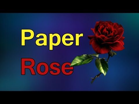 Amazing Things Made Out Of Paper #3 - How To Origami Rose