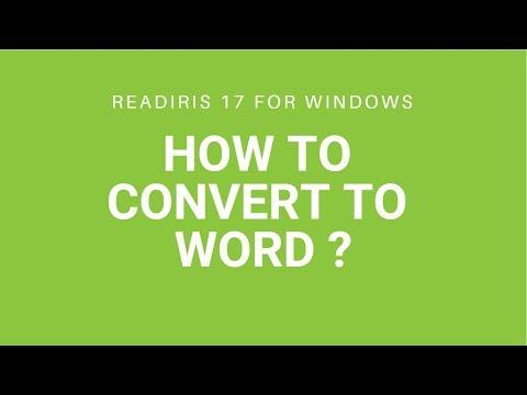 Readiris 17 - Word