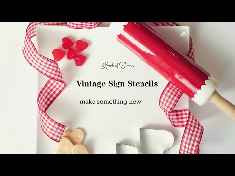 How to Make Your Own Fixer Upper Farmhouse Style Home Decor with Vintage Sign Stencils