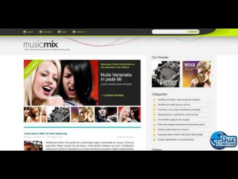 Download Music Blog WordPress Theme by  Matrix WP-TM