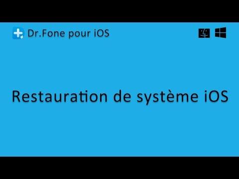 Dr.Fone pour iOS: Restauration de système iOS