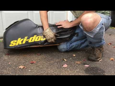 How I Recover a Ripped Snowmoblile/ATV/Bike Seat Cover
