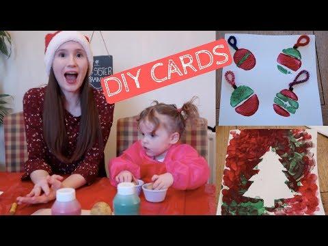 DIY XMAS CARDS | TODDLER FRIENDLY