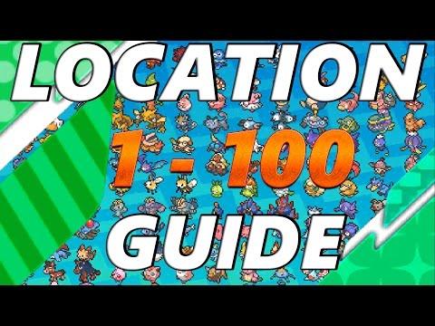 Pokémon Sun and Moon: Location Guide Pokemon 1 - 100