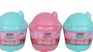 Cry Babies Magic Tears Bottle House Blind Box Unboxing Toy Review