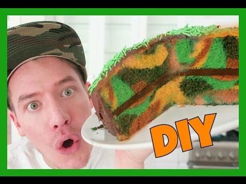 DIY CAMOUFLAGE CAKE