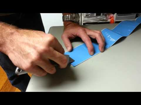 How to remove blue liner backing from ifloortape com floor tape.mp4
