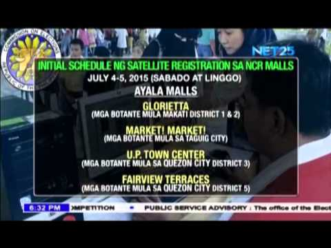 Voters' registration and validation to set in Metro Manila Malls