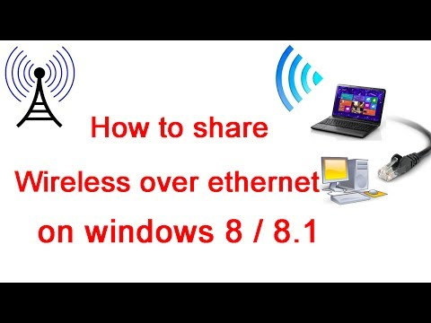 How to share Wireless over Ethernet on Windows 8 / 8.1