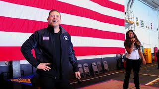 The Miz and Alicia Fox join USO to salute the U.S. military