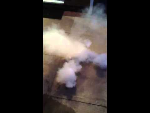 Smoke grenade ping pong ball