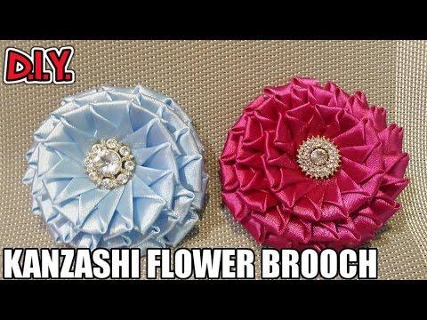 D.I.Y. Kanzashi Flower Brooch | MyInDulzens