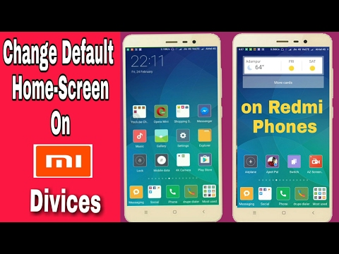 How to Change Default Home Screen On Any Redmi Phone - Explained in Hindi