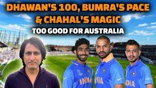 Dhawan's 100 , Bumra's pace Chahal's Magic too good for Australia