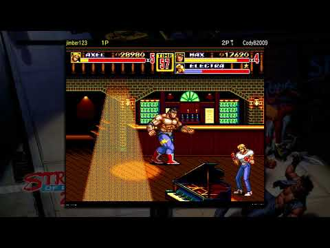 Lets Play FULL GAME Streets of Rage 2 Xbox one Games with Gold Free Sega vintage