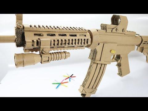 How To Make Cardboard M4 A1 Gun that Sh00ts