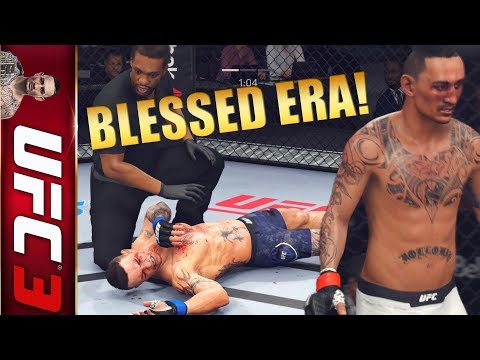 Max Holloway Breaking Down That Block With Head Kicks! EA UFC 3