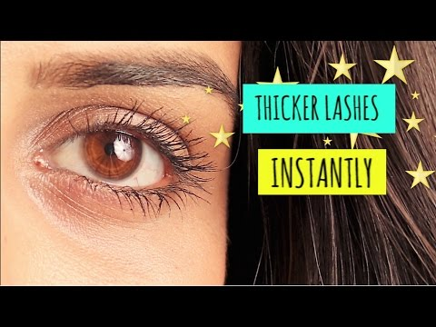 MAKE YOUR LASHES LOOK THICKER  | How to apply mascara perfectly
