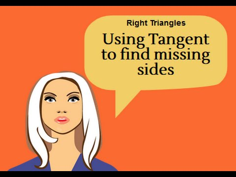 Using Tangent to find a missing side of a right triangle