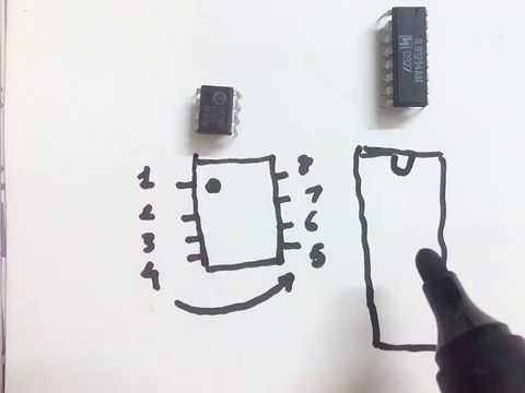Ic pin configuration | How to identify pin configuration of electronic IC | how to find IC pin