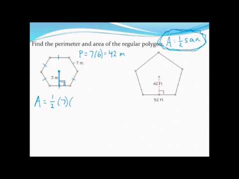 Calculating the area and perimeter of regular polygons (given side and apothem)
