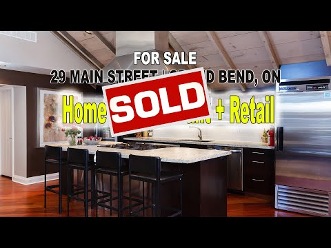 FOR SALE-Main Street in Grand Bend 3 in 1,Residential,Commercial,Retail - Run a Restaurant