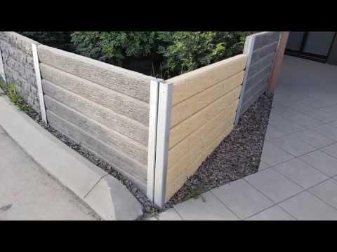 The Ridgi Retaining Wall range of concrete sleepers & steel posts