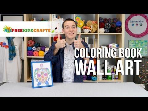 Coloring Book Wall Art