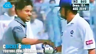 FAN Touches SACHIN & Sachin TOUCH FANs with ball 7 TIMES !!