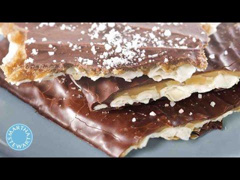 Chocolate-Toffee Matzo Recipe - Martha Stewart