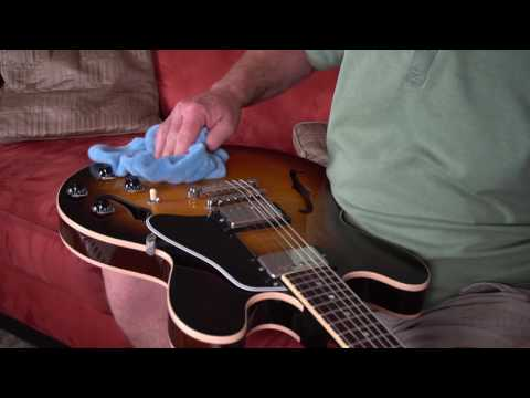 Cleaning a Guitar using Surface Pro Plus