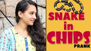 Snake in Chips Telugu Prank | Food for Old Age Home | Latest Telugu Pranks | FunPataka