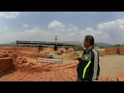 360 VIDEO: Quake helps clear filthy air over Nepal's brick kilns