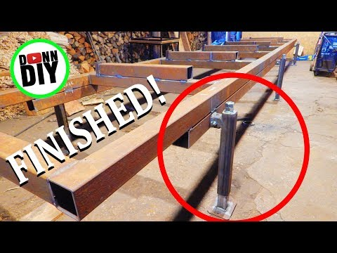 Homemade Portable Band Sawmill Build #5 - Jack Stands Finished