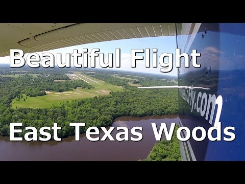 Beautiful Flight over the East Texas Woods