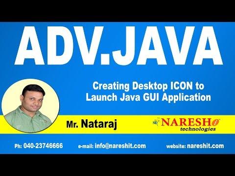 Creating Desktop ICON to Launch Java GUI Application | Advanced Java Tutorial | Mr. Nataraj
