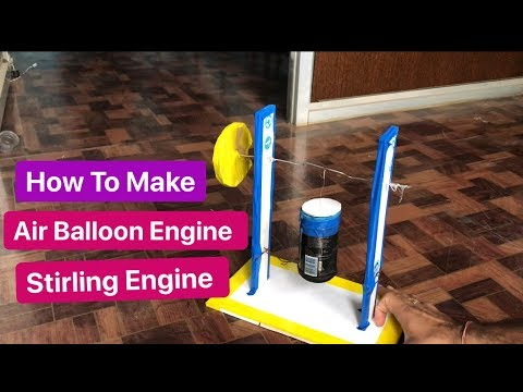 how to make air engine from soda can and Balloon, Stirling engine