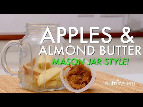 Apples & Almond Butter Mason Jar Recipe