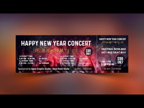 How To Design Event Ticket Template in Photoshop