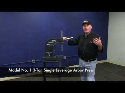 Dake Model No. 1 3-Ton Single Leverage Arbor Press